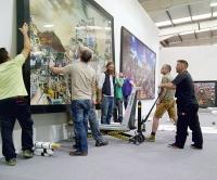 David Mach install Galway Arts Fest